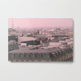 zinc rooftops of Paris Metal Print