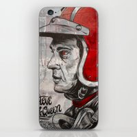 steve mcqueen iPhone & iPod Skins featuring McQueen by EL GRAN TOCAYO