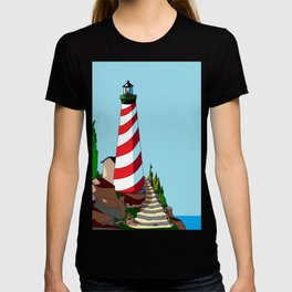 The Lighthouse on a Sunny Day T-shirt