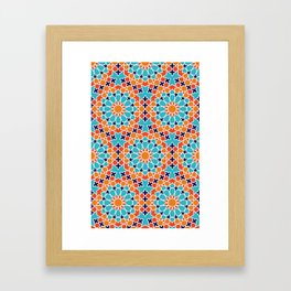 Seamless Moroccan Pattern Framed Art Print