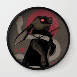 Moonlight (red version) Wall Clock