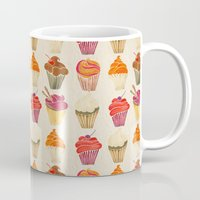 cupcakes Mugs featuring Cupcakes by Cat Coquillette