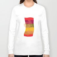 paisley Long Sleeve T-shirts featuring paisley bandana by Ariadne