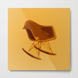 Rocker Chair Orange Metal Print