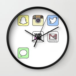 iPhone Icons Wall Clock