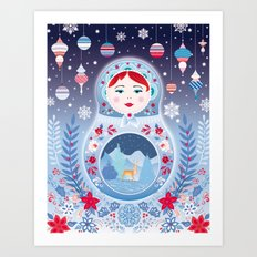 Our Lady of Winter Art Print