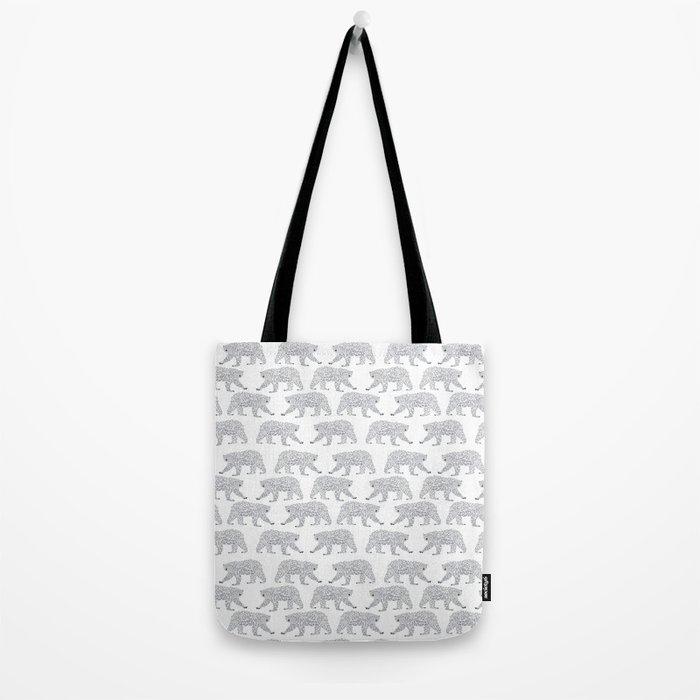 Polar Bears geometric trendy kids bear pattern print for boy or girl gender neutral Tote Bag