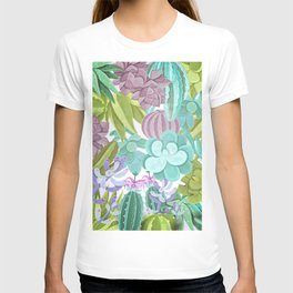 Tropical Cactus Pattern T-shirt