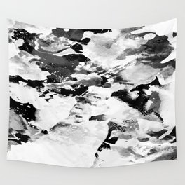 Blk Marble Wall Tapestry