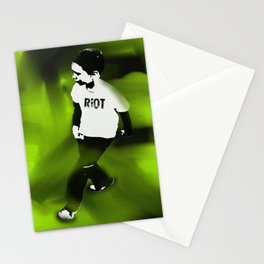 Riot On Green Stationery Cards