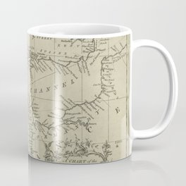 A chart of the English Channel with the adjacent coasts of England and France Coffee Mug