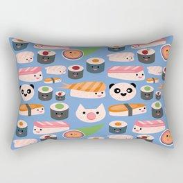 Kawaii sushi blue Rectangular Pillow