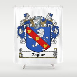 Family Crest - Taylor - Coat of Arms Shower Curtain