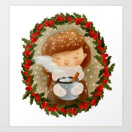 Cinnamon Tea Art Print