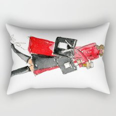 Walking Out of 5th Avenue Fashion Illustation by Elaine Biss Rectangular Pillow