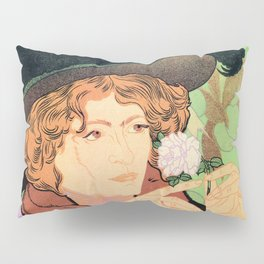 Art Nouveau Expo Salon des Cent Paris Pillow Sham