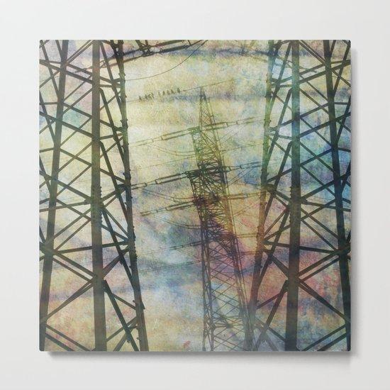 + pylons Metal Print