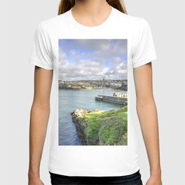 Newquay Harbour Seascape T-shirt