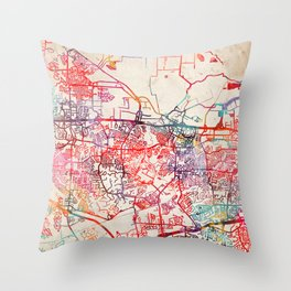 St Peters map Missouri MO Throw Pillow
