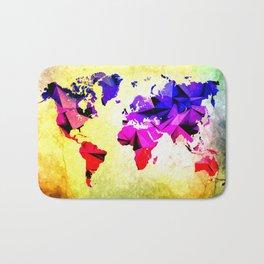 World Graphics Bath Mat