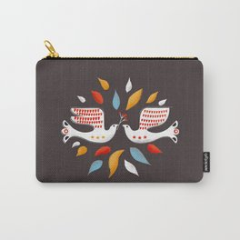Retro christmas birds illustration Carry-All Pouch