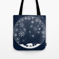 globe Tote Bags featuring Snow Globe by Tobe Fonseca