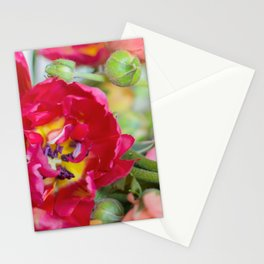 Fiery Red Flowers Stationery Cards
