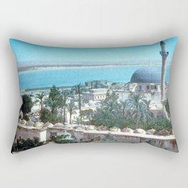 Akka. Carmel range across the bay Rectangular Pillow