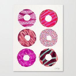 Half Dozen Donuts – Magenta Palette Canvas Print