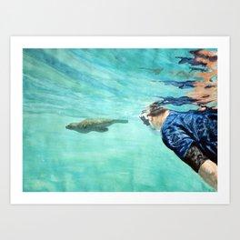 Sea Wolf and Friend Art Print
