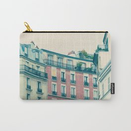 Paris Pink Facades Carry-All Pouch