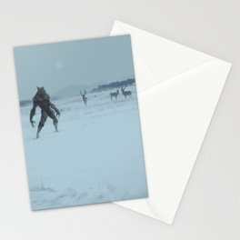 a lonely wolf Stationery Cards
