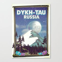 Dykh-Tau, Russia mountain poster. Canvas Print