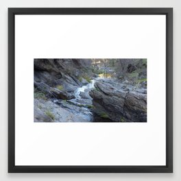 Running Stream Framed Art Print