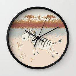 safari zebra Wall Clock