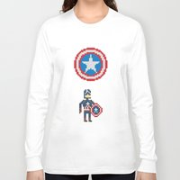 steve rogers Long Sleeve T-shirts featuring Steve Rogers by Bryan