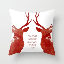 Valentine Stags Throw Pillow