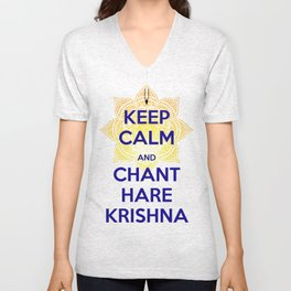 Keep calm and chant Unisex V-Neck