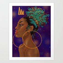 Melanin Monarch Art Print