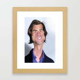 Jim Carrey Caricature art Framed Art Print