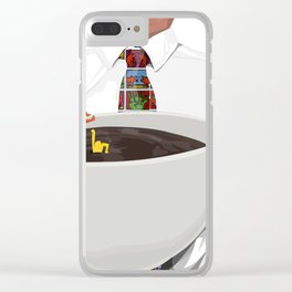 KeithHaring coffee Clear iPhone Case