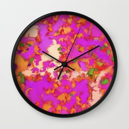 Flammable surface Wall Clock