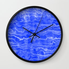 Egyptian Marble, Lapis Blue Wall Clock