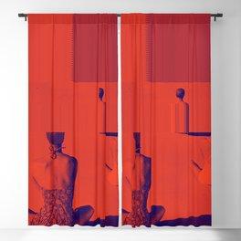 Glitch Bathers Blackout Curtain