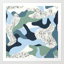 Icy Camo Art Print