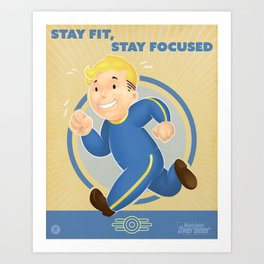 Stay Fit, Stay Focused Art Print