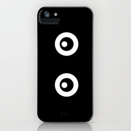 Scared Cartoon Eyes in the Dark iPhone Case