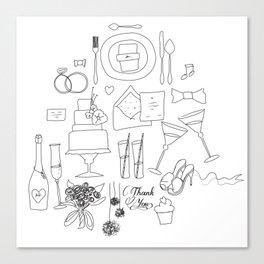 weeding doodle Canvas Print