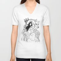 gypsy V-neck T-shirts featuring Gypsy  by ericlvargas