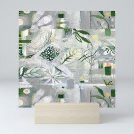green_pattern Mini Art Print